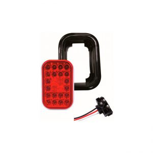 FAROL LED RECTANG 24L 12V ROJO