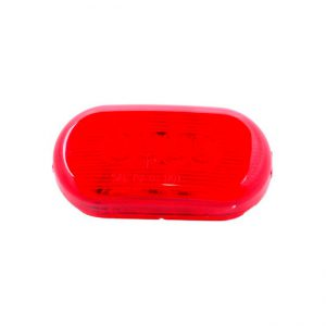 FAROL LED OVAL 4L 12V ROJO LATERAL 1035