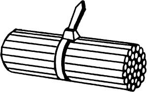 Amarra Plastica Negra 142×3,6mm