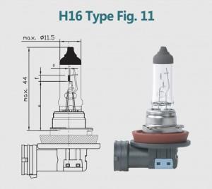 H16 12V 19W