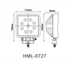 #0001 LED Work Light 27W(Cod: 0727-FL o SP)