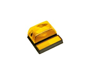 #0014 Farol rectangular C/ reflectante Amarillo/ Rojo Cod. SN1119R