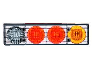 Trasera-de-LED-Linterna-con-lente-de-cristal-voltios-LED-de-dos-colores.-No-hay-vigilante.-Salida-Hilado-(poliestireno)