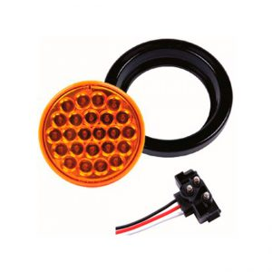 FAROL LED  4.0″ 24L  9-36V AMBAR ESTROBOSCOPICO