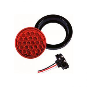 FAROL LED  4.0″ 24L  9-36V ROJO  ESTROBOSCOPICO